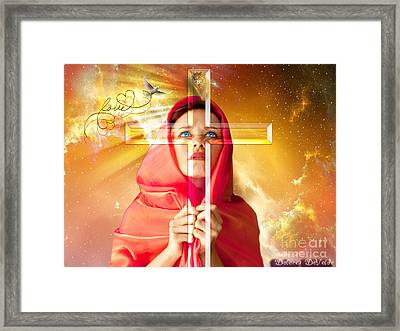 Life Seen Through The Cross Framed Print by Dolores Develde