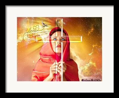 True Cross Digital Art Framed Prints