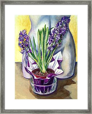 Framed Print featuring the drawing Life Spring by Laura Aceto