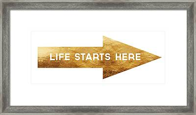 Life Starts Here-art By Linda Woods Framed Print