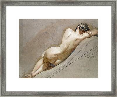 Life Study Of The Female Figure Framed Print by William Edward Frost