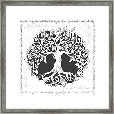 Life Tree. Life Is Like A Tree Framed Print by Gina Dsgn