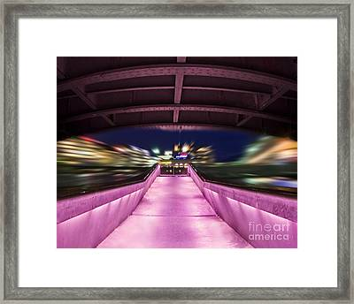 Life Under The City In Geneva Framed Print