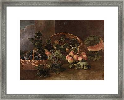 Life With Peaches Framed Print
