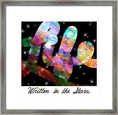 Life Written In The Stars - Celestial Text Art Framed Print