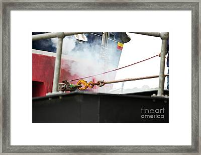 Lifeboat Chocks Away  Framed Print