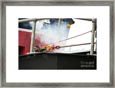 Lifeboat Chocks Away  Framed Print