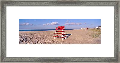 Lifeguard Chair At The Beach Framed Print by Panoramic Images
