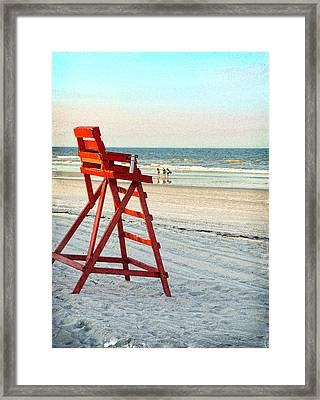 Lifeguard Chair Framed Print by Linda Olsen