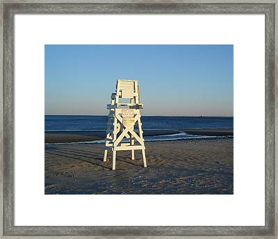 Framed Print featuring the photograph Lifeguard Chair  by Margie Avellino