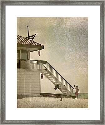 Lifeguard Daze Framed Print by Kevin Bergen