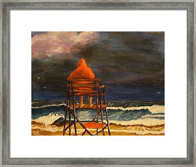 Lifeguard On Duty Framed Print