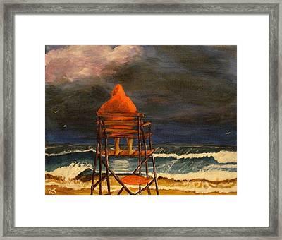 Lifeguard On Duty Framed Print by Rita Tortorelli