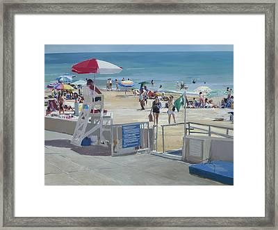 Lifeguard On Duty Framed Print