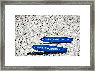 Lifeguard Framed Print by Sandy Taylor