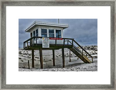 Framed Print featuring the photograph Lifeguard Station 1 by Paul Ward
