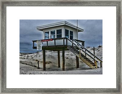 Framed Print featuring the photograph Lifeguard Station 2  by Paul Ward