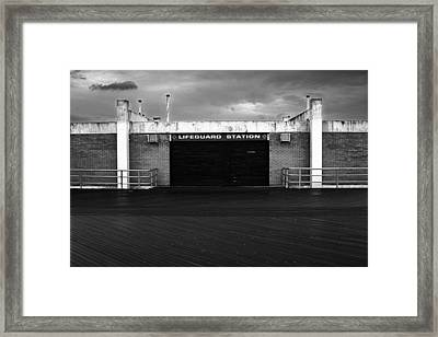 Lifeguard Station, Coney Island Framed Print by Catherine Jones