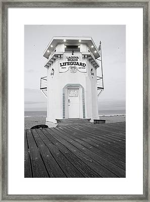 Lifeguard Tower Framed Print
