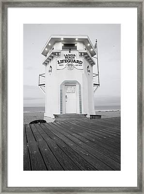 Lifeguard Tower Framed Print by Eric Foltz