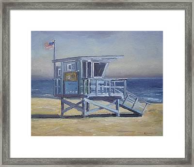 Lifeguard Tower Framed Print by John Kilduff