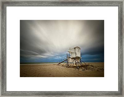 Lifeguard Tower Takeoff Framed Print