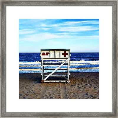 Lifeguard's Haven Framed Print