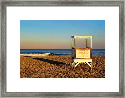 Lifeguard Stand At Ocean City Nj Framed Print