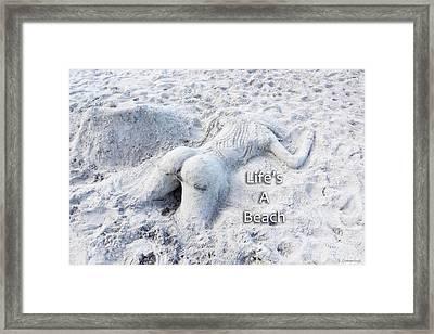 Life's A Beach By Sharon Cummings Framed Print
