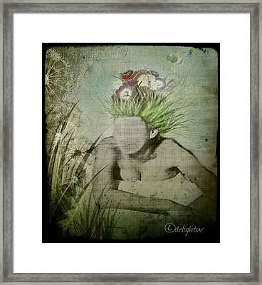 Framed Print featuring the digital art Life's A Beach by Delight Worthyn