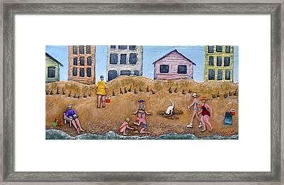 Life's A Beach Framed Print by Linda Carmel