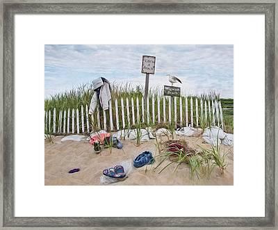 Framed Print featuring the photograph Life's A Beach by Robin-Lee Vieira