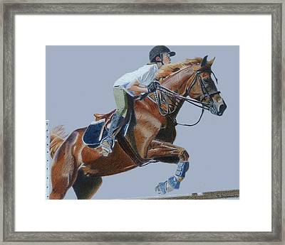 Horse Jumper Framed Print