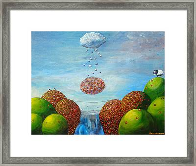 Life's Path Framed Print by Mindy Huntress