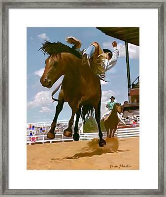 Life's Ride Framed Print by Karen Johnston