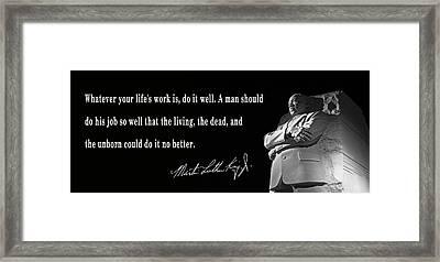 Life's Work - Martin Luther King Framed Print