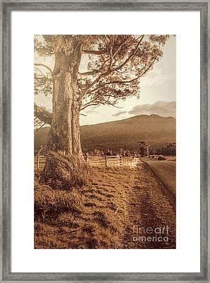 Liffey Vintage Rural Landscape Framed Print