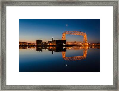 Lift Bridge Framed Print