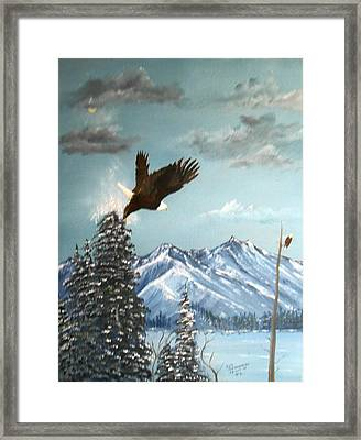 Framed Print featuring the painting Lift Off by Al  Johannessen