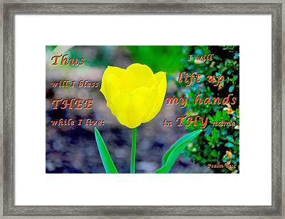 Lift Up My Hands Framed Print by Terry Wallace