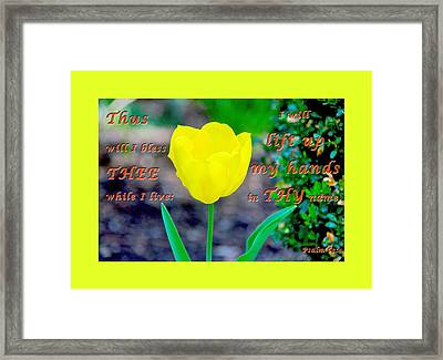 Lift Up My Hands2 Framed Print by Terry Wallace