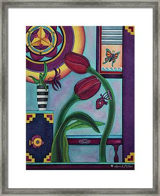 Lifting And Loving Each Other Framed Print