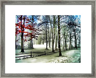 Lifting Fog Framed Print