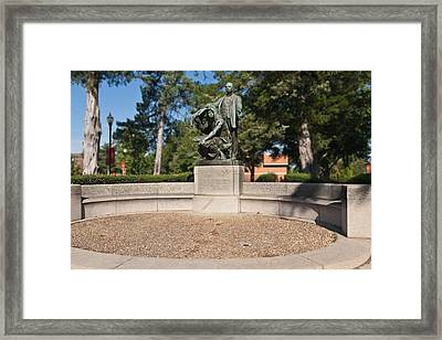 Lifting The Veil Of Ignorance Framed Print by Arnold Hence