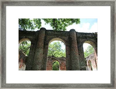 Light Above The Ruins Framed Print by Carol Groenen