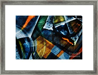 Light Abstraction In Blue Framed Print by Elena Lir-Rachkovskaya