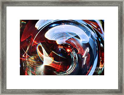 Light Abstraction On Paper Framed Print by Elena Lir-Rachkovskaya