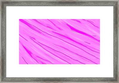 Light And Dark Pink Swirl Framed Print by Linda Velasquez