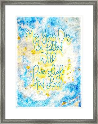 Light And Love Framed Print
