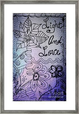 Light And Love Framed Print